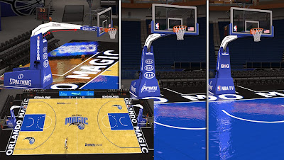 NBA 2K14 Orlando Magic Court Amway Center Mod