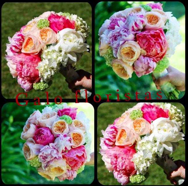 ramo novia peonias rosas