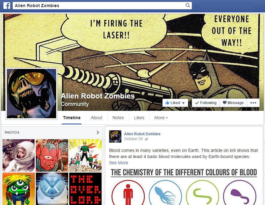 Alien Robot Zombies on Facebook