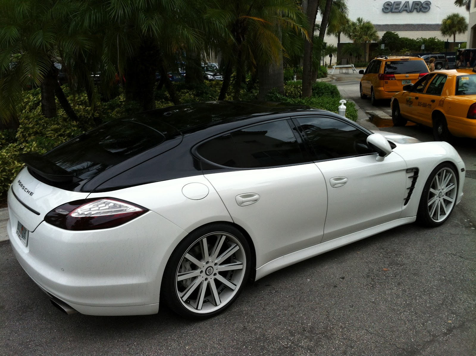 White Black Porsche Panamera With Painted Roof Exotic