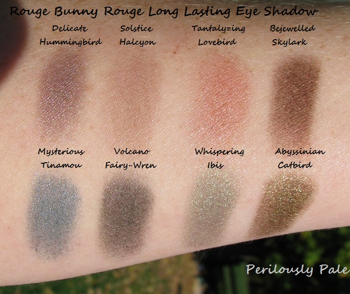 My Rouge Bunny Rouge Eye Shadow Collection Perilously Pale