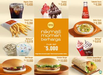 McD, menu hemat McD, harga menu hemat McD, menu hemat di Mcd, Harga Menu Paket Hemat Setiap hari McD