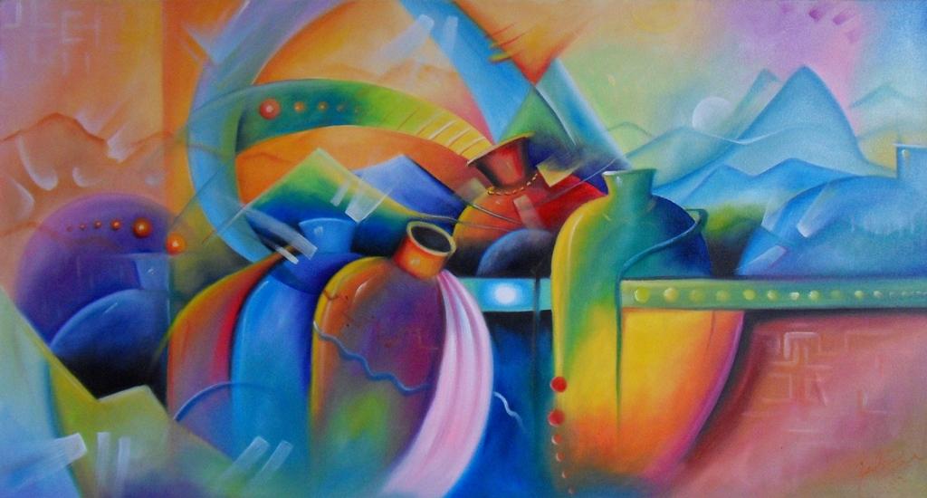 Im genes arte pinturas cuadros modernos acrilico - Cuadros bodegones modernos ...
