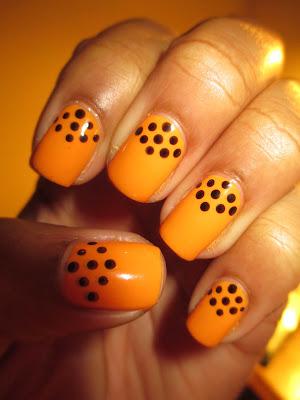 Julep Parker, yellow, orange, tangerine, school bus yellow, nail art, nail design, mani
