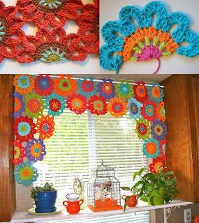 Feitos por mim by lu rontani cortina primavera em croch for Cortinas de gancho para cocina