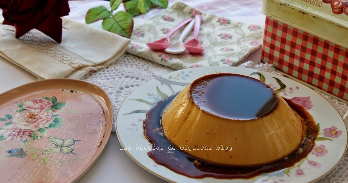 Flan de huevo y vainilla al ba o mar a las recetas de - Flan de huevo al bano maria en olla express ...