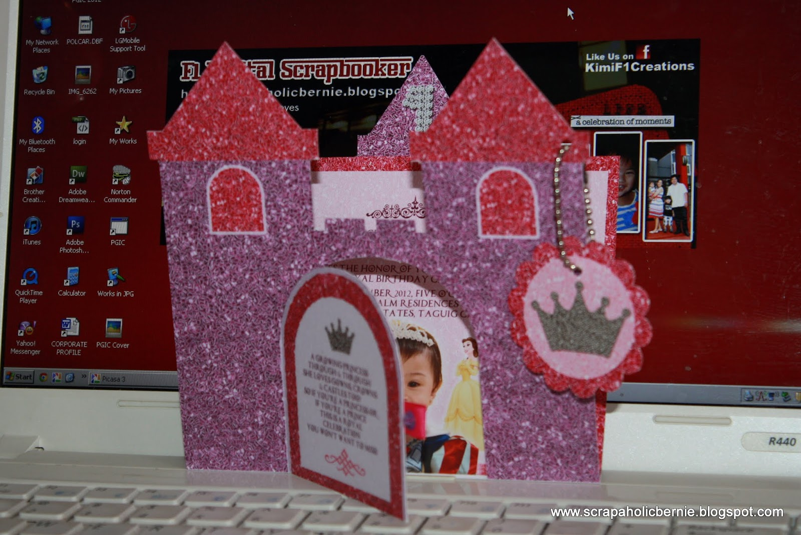 Princess Castle Invites With Flip Door