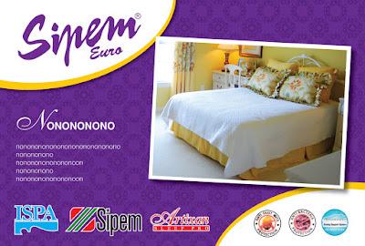 งานออกแบบใบปะหน้าที่นอน Sipem Euro