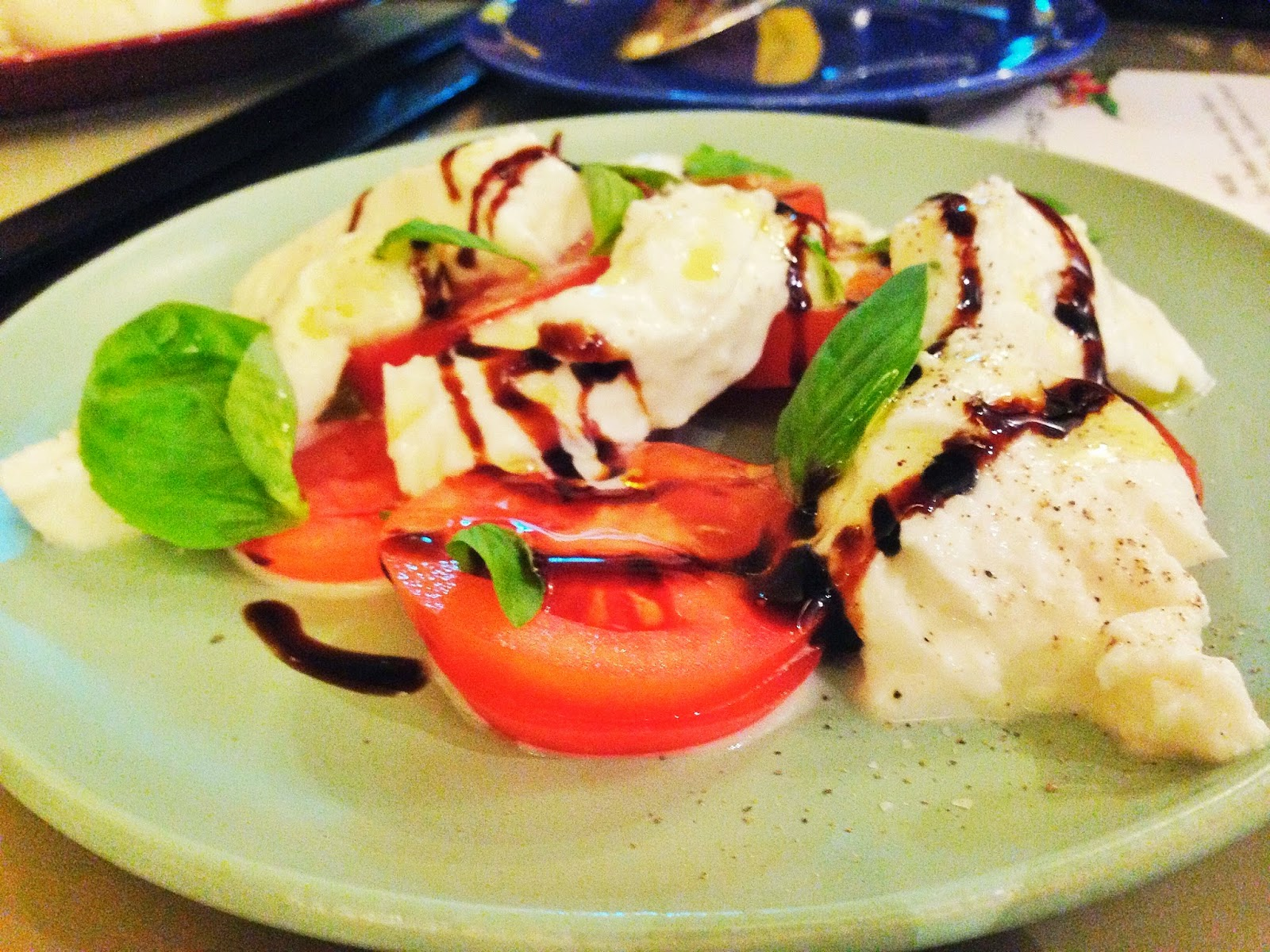 Caprese: Tomatoes, Buffalo Mozzarella, Basil, Balsamic & Extra Virgin Olive Oil