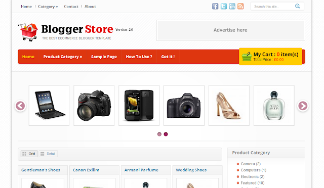 Shopping Theme Blogger Template