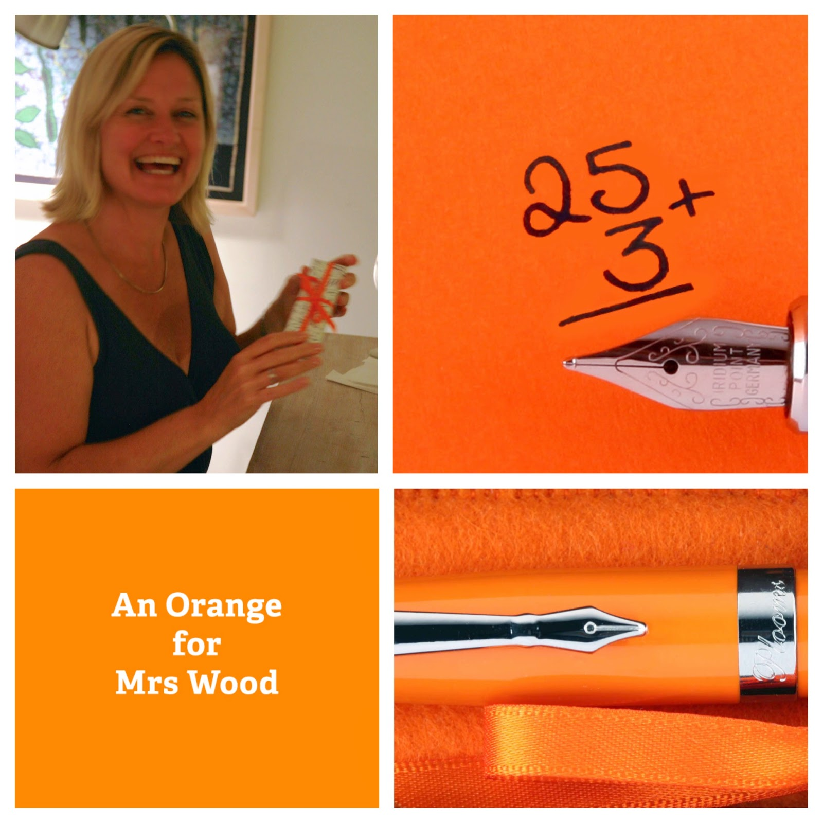 Orange PLOOMS fountain pen