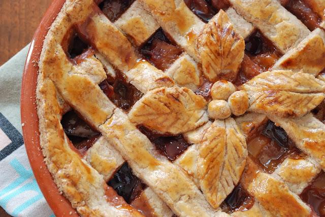 recette tarte a l'ancienne aux poires et aux prunes