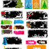 Grunge Christmas Vector Banners Set