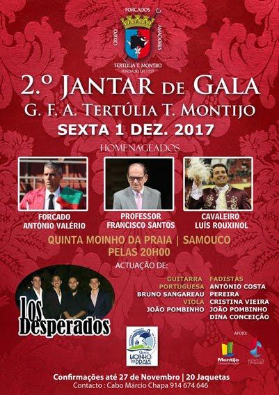 2º JANTAR DE GALA DE GALA G.F.A. TERTULIA T. MONTIJO DIA 01-12-2017.