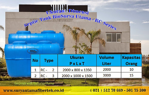 ukuran septic tank rc series
