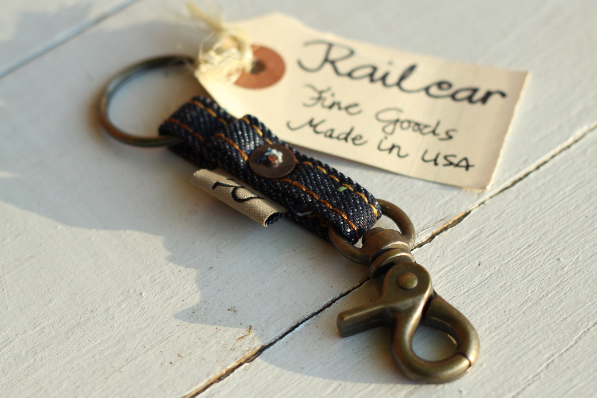 Railcar Fine Goods Denim Key Lanyard
