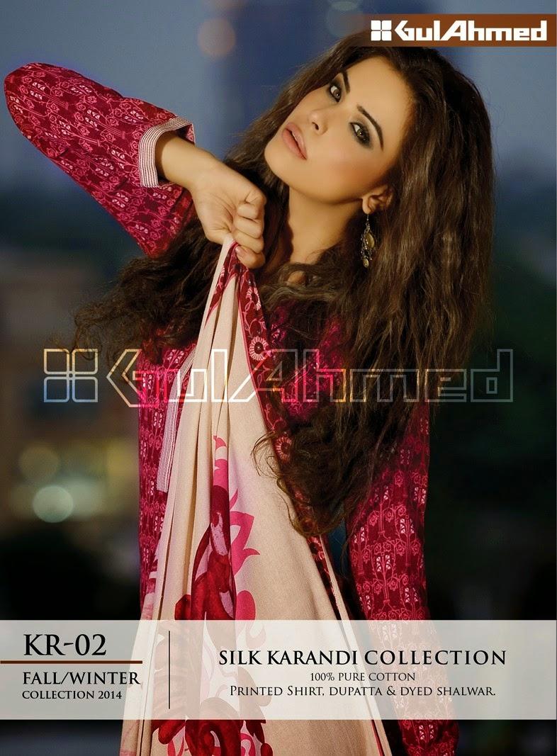 GulAhmed Fall/Winter 2014 Silk Karandi Collection - KR-02