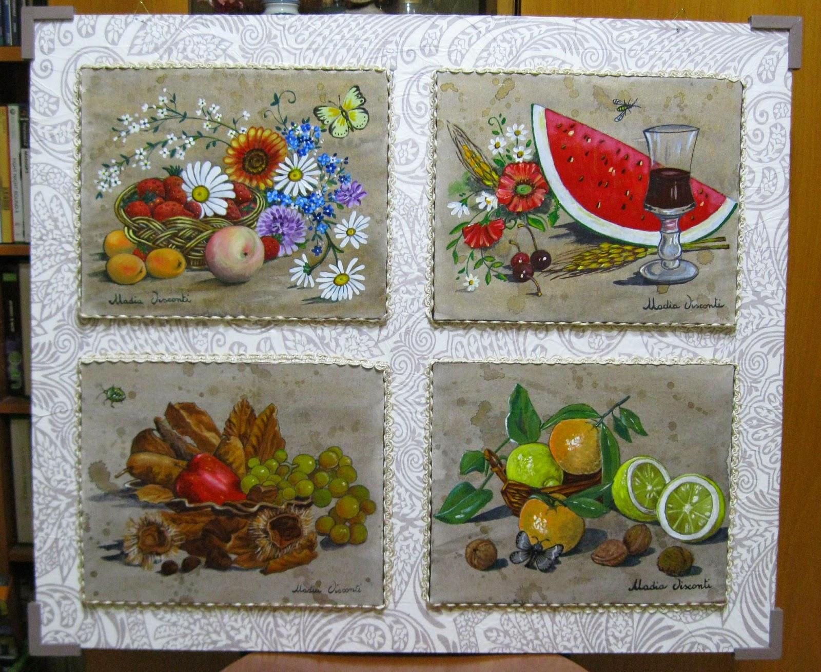 Tra sogno e realt le 4 stagioni con frutta fiori e insetti for Immagini di quadri con fiori