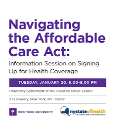 Featured Event <br> Tuesday, January 20: Navigating the Affordable Care Act