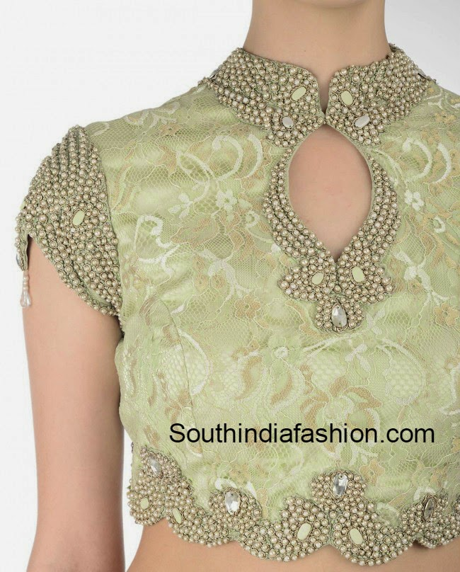 Blouse With High Neck 80