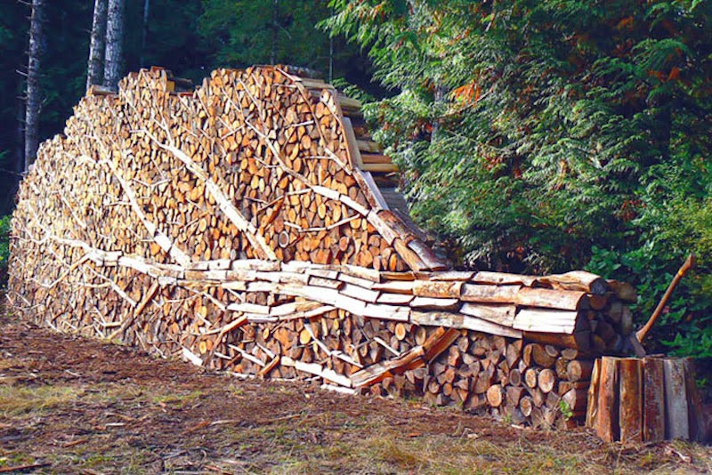 These People Turned Log Piling Into An Art Form Snow