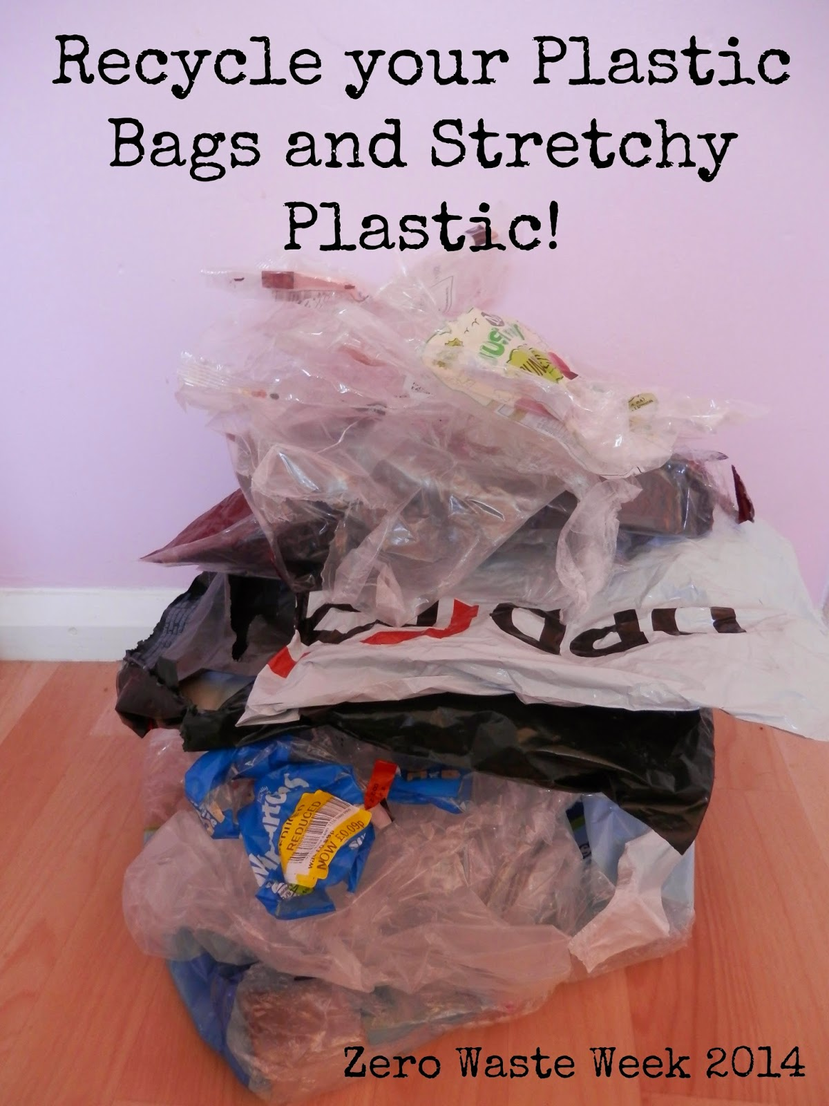 How to recycle plastic bags plastic packaging and stretchy plastic Zero Waste Week 2014 secondhandsusie.blogspot.com