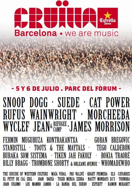 Festival Cruilla Barcelona 2013 Cartel