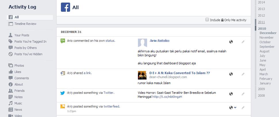 Tak Ada Cara Menghapus Semua Posting Facebook?