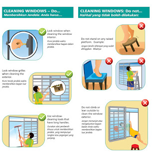Cleaning windows - Do and Do Not