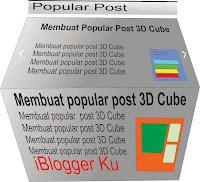 Widget Popular Post 3D cube