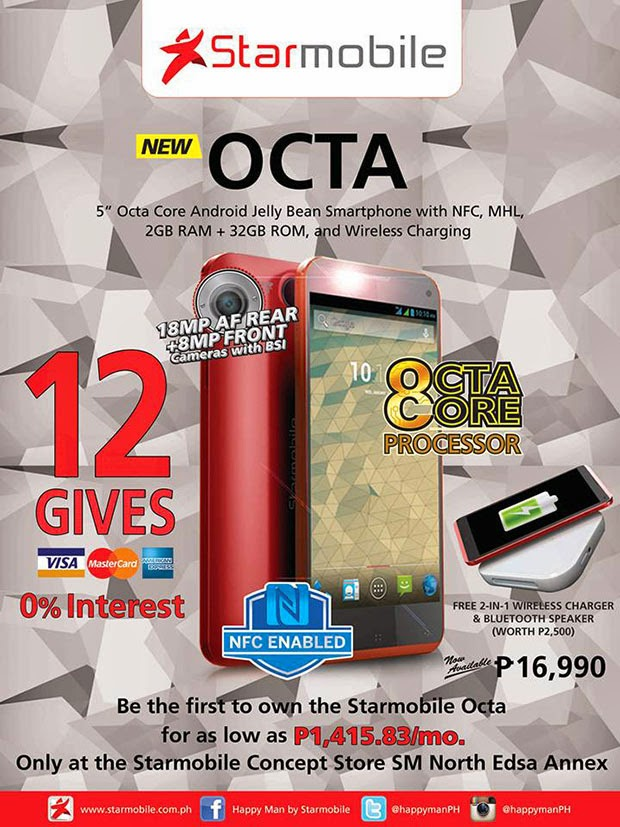 Starmobile Octa: 5-inch full HD smartphone with 8-core CPU at Php ...