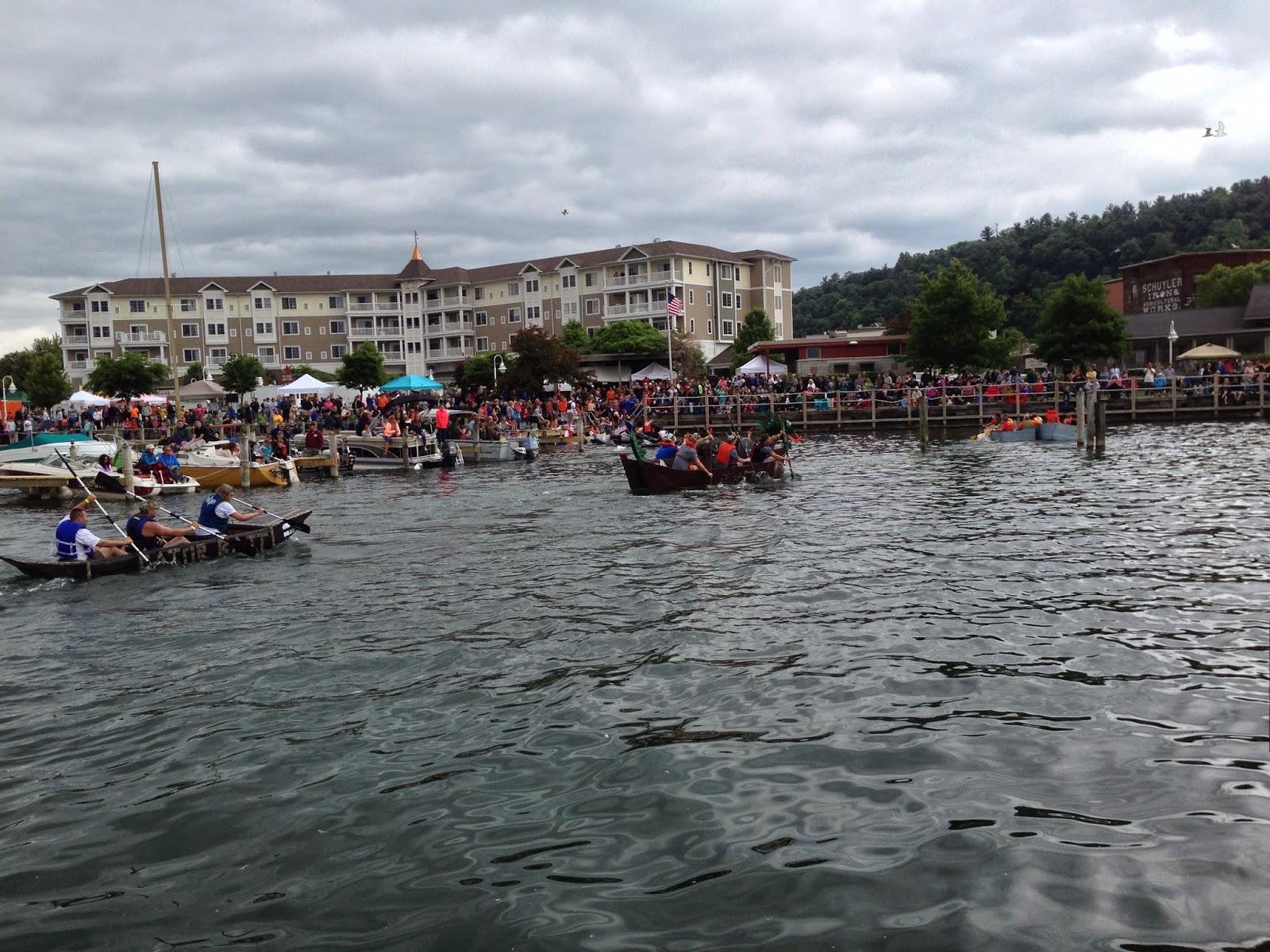 Watkins Glen Waterfront Festival Cardboard Boat Regatta 2014