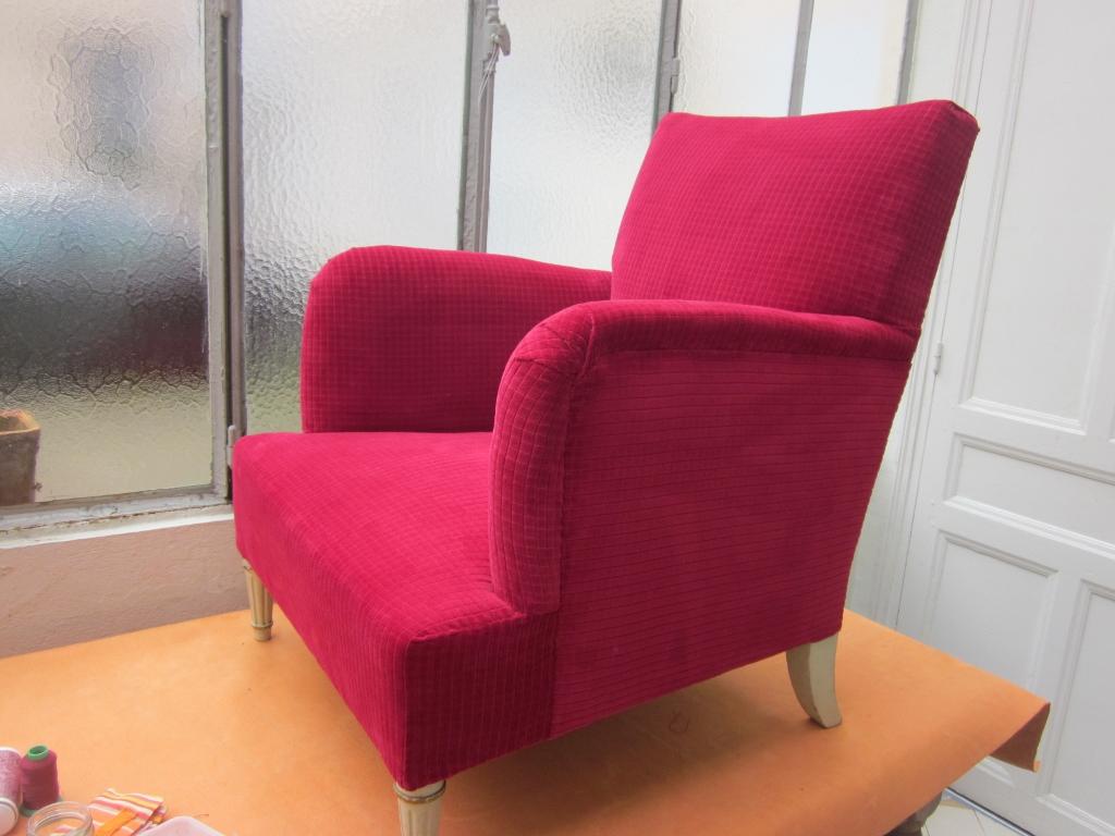 corine kern tapissier fauteuil anglais. Black Bedroom Furniture Sets. Home Design Ideas