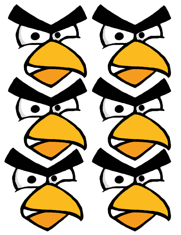 It is a picture of Zany Angry Bird Cut Outs