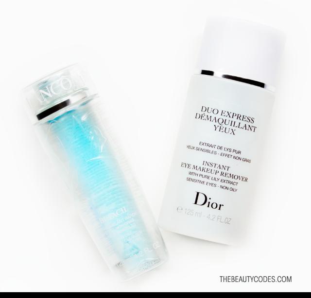 Desmaquillante de ojos Dior vs Lancome