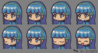 Faceset of Arika Yuumizune. Char belongs to Arika64.