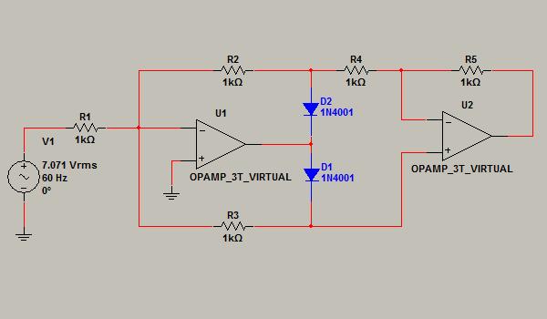Circuito Rectificador De Media Onda : Electronica iii rectificador de onda completa