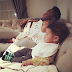 CELEBRITY LIFE: Mikel Obi & His Adorablle Twin Girls Watch TV Together!
