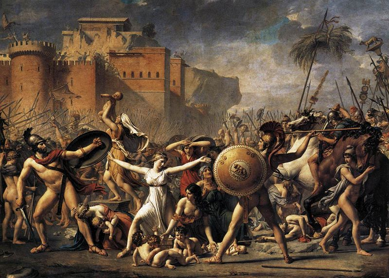 Rape ofSabine. Jacques-Louis David, Intervention of the Sabine Women ...