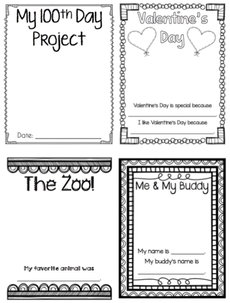 Gargantuan image intended for preschool memory book printable