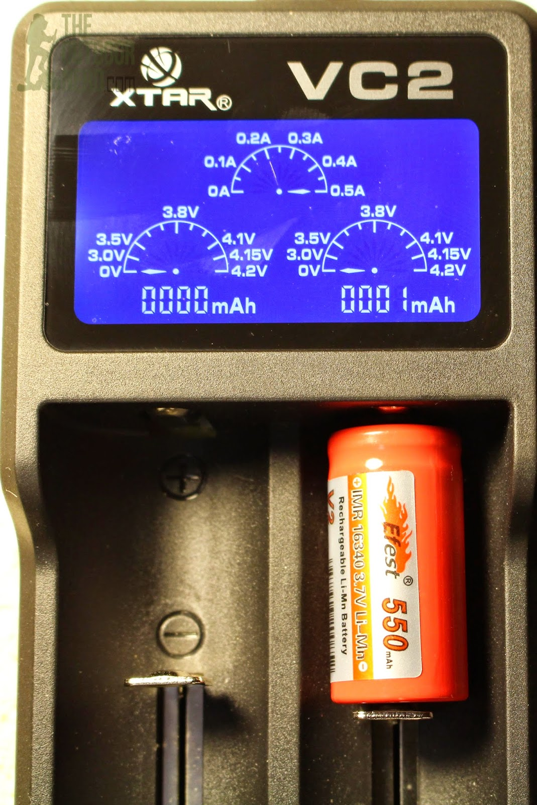 XTAR VC2 USB Lithium-Ion Battery Charger: 0V Activation