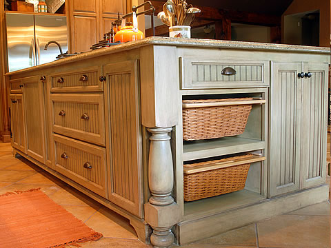 Kitchen trends custom kitchen cabinet for Kitchen island cabinet plans