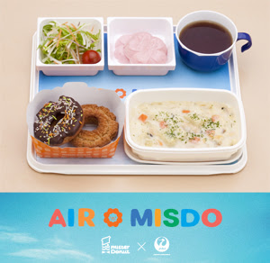 JAL Original AIR MISDO served with Boston's signature clam chowder