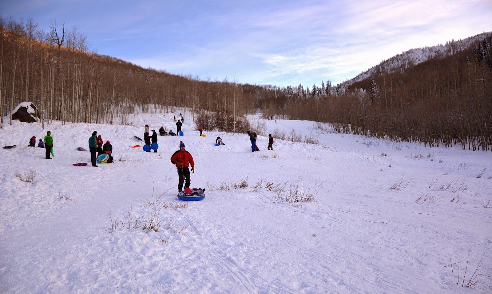 Gentle slope for sledding
