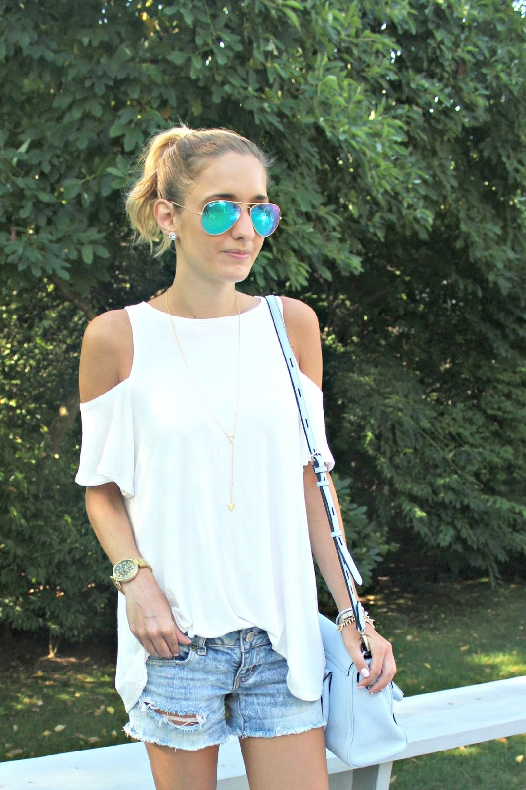 cold shoulder urban outfitters top
