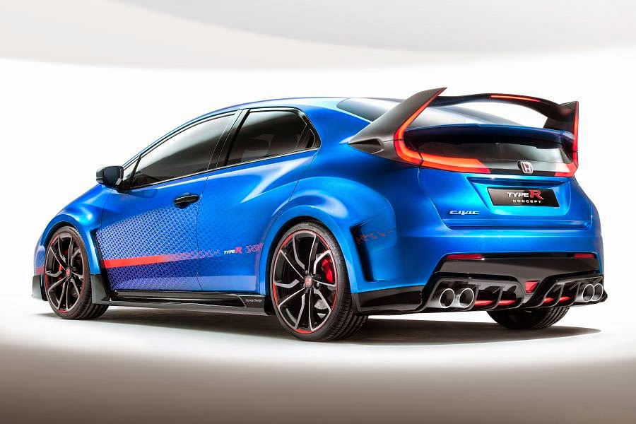Honda Civic Type R Concept (2015) Rear Side