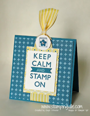 Keep Calm and Stamp On Greeting Card