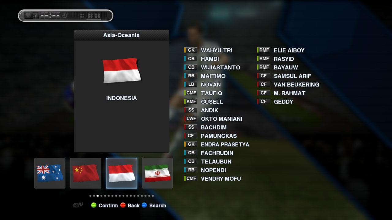 PES Edit 2.5 ada timnas Indonesianya
