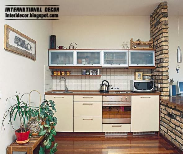Interior design 2014 small kitchen solutions 10 interesting solutions for small kitchen designs - Small kitchen interior design ...