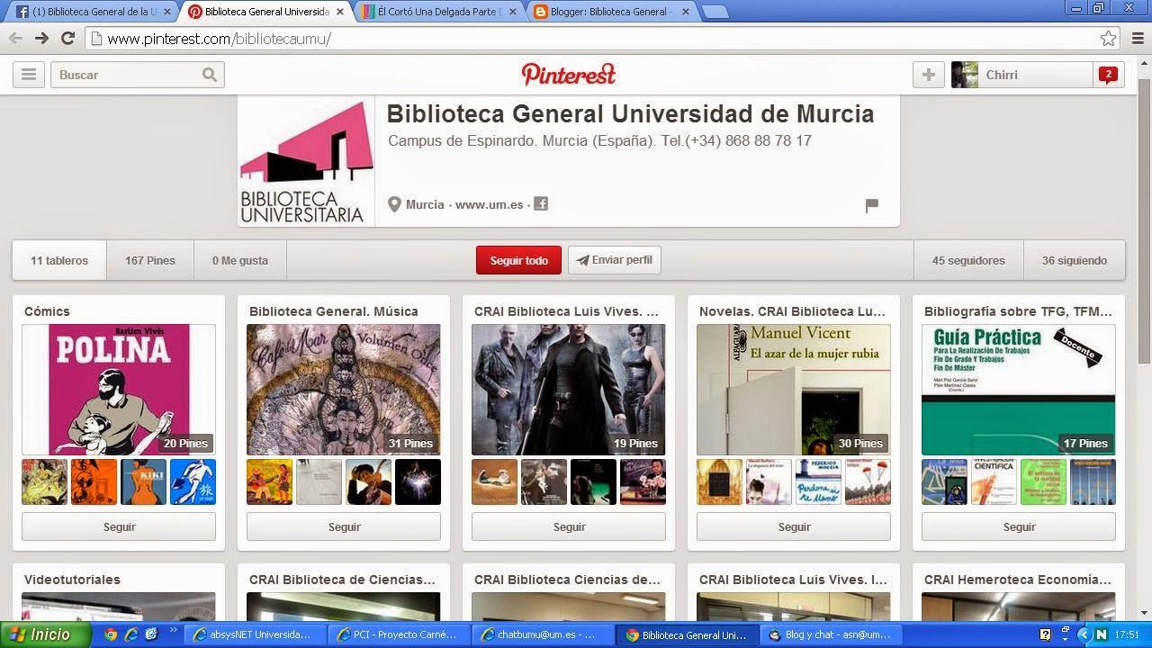 Pinterest Biblioteca General
